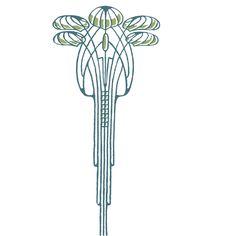 Art Nouveau Tree Hand Screen Printed Women's Tee