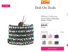"Don't miss our ""Dish on Deals"" $29 leather wrap bracelet sale only at http://www.stylemined.com/event/dish-on-deals-23/157bb62029f576. Offer ends 9/6/16"