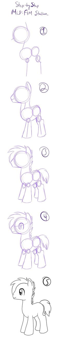 How to draw an mlp stallion