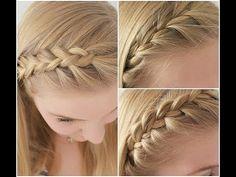 Haarbandjes vlechten op verschillende manieren - YouTube