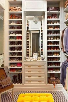 "A Shoe Lover's Fantasy. ""Fantasy"" is right! No way would I climb up there to either get or put away my shoes!"