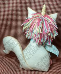 E-Pattern - Magical Mischief Unicorn Pattern - Primitive Doll E-Pattern - Unicorn - Magical - Mystical - Horse - Whimsical - Fiber Art, Fun Projects, Sewing Projects, Christmas Wood, Christmas Ornaments, Unicorn Pattern, Crafty Craft, Fiber Art, One And Only, Happy Shopping
