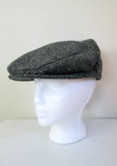 6532ecd8ad2a2 Donegal Tweed Cap Newsboy Hat    Hats of Ireland Pure Wool Size Large New  Deadstock. Vintage Gifts ...