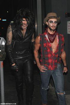 "Adam Lambert and friend Drake leaving Neil Patrick Harris Halloween Party ""David & Neil's Monster Mash""  in Hollywood 10-26-13"