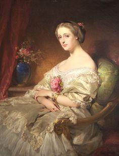 1850 Edouard Louis Dubufe - Contess of Beaussier