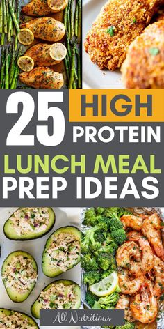 Keto Discover 25 High Protein Lunch Meal Prep Ideas These recipes are high in protein thus great for lunch or dinner when youre losing weight. High protein meal prep isnt hard to make as long as you have systems in place and good healthy recipe ideas. Healthy High Protein Meals, High Protein Low Carb, High Protein Recipes, Good Healthy Recipes, Dinner Healthy, Healthy Salads, Easy Healthy Lunch Ideas, Breakfast Healthy, High Protein Lunch Ideas