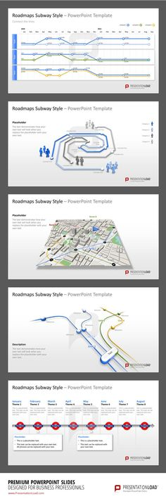 Subway Roadmap PPT Templates  #presentationload  http://www.presentationload.com/roadmaps-subway-style.html
