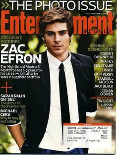 Entertainment Weekly October 17 2008 Zac Efron on Cover, The Photo Issue, Tina Fey on SNL, Guy Ritchie/RocknRolla, The Year's Best Outtakes, Michael Connelly, Ben Stiller, Usher, Jack Black, Twilight, Gossip Girl by Entertainment Weekly,http://www.amazon.com/dp/B002X2JMRA/ref=cm_sw_r_pi_dp_ceawtb1FKD8QRQ4D