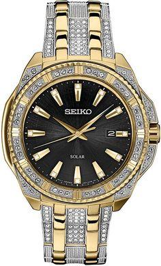 Seiko Men Solar Dress Two-Tone Stainless Steel Bracelet Watch Bulova Mens Watches, Seiko Men, Watches For Men, Gold And Silver Watch, Silver Man, Wedding Dress Suit, Solar Watch, Stainless Steel Bracelet, Bracelets For Men