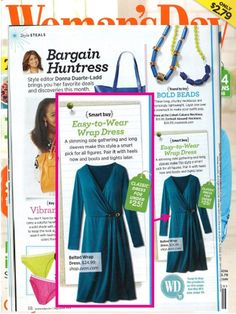 This Avon wrap dress was featured in Women's Day magazine! Shop for it and other great fashion items at www.youravon.com/sarahflorane