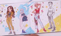 Girl Drawing Sketches, Illustration Art Drawing, Cute Drawings, Disney Character Sketches, Character Drawing, Sketchbook Layout, Sketchbook Inspiration, Art Style Challenge, Drawing Challenge