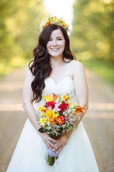 Beautiful bride and a beautiful story | Photography: Jacqueline Elizabeth Photography - www.jacquelineelizabeth.com  Read More: http://www.stylemepretty.com/canada-weddings/2015/05/19/alberta-farm-wedding-color-whimsy/