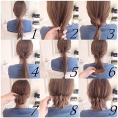 tutorial hairdo, belajar sanggul rambut, Important Style New Bun Hairstyle Step By Step - Hair trends come and go each season, but there is a set of cuts Bun Hairstyles, Pretty Hairstyles, Wedding Hairstyles, Braided Hairstyle, Simple Hairstyles, School Hairstyles, Love Hair, Gorgeous Hair, Medium Hair Styles