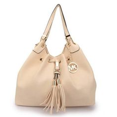 Michael Kors Camden Drawstring Large Ivory Shoulder Bag