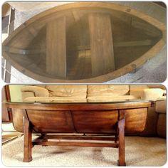 Marvelous Canoe Coffee Table, Beach Theme Living Room.