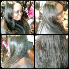 Sew-in on natural hair