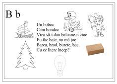 alfabetul limbii romane pentru copii in versuri - Google Search Romanian Language, Kids Poems, Kids Education, Nursery Rhymes, Preschool Activities, Teaching Kids, Place Card Holders, Letters, Learning