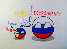 Happy Independence Day of Russia and Philippines Indepedence Day, Happy Independence Day, Philippines, Countries, Balls, Russia, Christmas Crafts, My Arts, Events