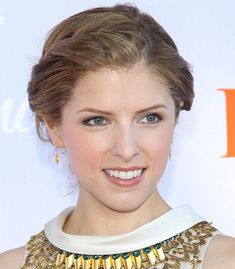 80 And More Updo Hairstyles For 2014: Anna Kendrick Updos  #AnnaKendrick #UpdoHairstyles