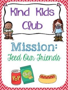 Mission: Feed Our Friends - Students will hold a food drive and donate the collected food to a local food pantry. Includes: - lesson to introduce the mission - food items shopping list - mission task card - reflection sheet - completion certificate Preschool Food, Kindness Activities, Piano Lessons, Task Cards, Teaching Kids, Club, Learning, Food Drive, Keyboard Piano