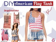 1) All American DIY - American flag tank #DIY #crafts