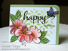 Keep in Touch Cards: Happy Birthday with Wild Hibiscus