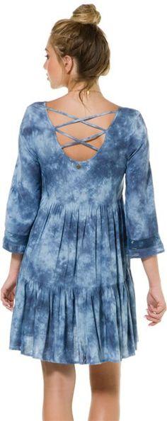Billabong indigo tie dye dress