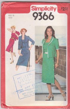 Vintage 1980s sewing pattern for day to night by beththebooklady, $7.99