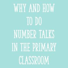 """I implemented a daily math routine called a """"Number Talk,"""" and it was very helpful in developing my students' number sense. Here's how to do number talks..."""