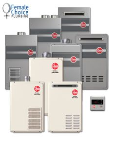Female Choice Plumbing offering a wide range of rheem hot water system including Gas, Electric, Solar or heat pumps.