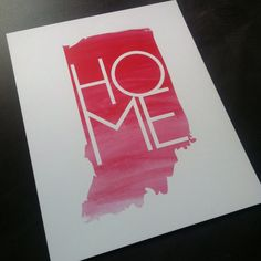 Indiana Home: 8x10 Print by CheriStudio on Etsy///// Indiana!