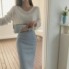 Teen Fashion Outfits, Kpop Fashion, Asian Fashion, Modest Fashion, Girl Fashion, Modest Outfits, Cute Casual Outfits, Pretty Outfits, Korean Outfit Street Styles