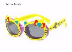 fb0ba7991 الطفل القط لطيف الوجه حتى النظارات الشمسية المستقطبة الطفل الاطفال الرضع  الكرتون
