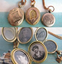 Gold-filled Lockets with Photos