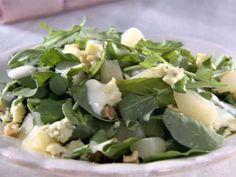 Pear Salad with Gorgonzola Dressing Recipe : Sandra Lee : Food Network Ranch Dressing Recipe, Salad Dressing Recipes, Salad Recipes, Healthy Recipes, Salad Dressings, Pear Recipes, Sandra Lee Recipes, Canned Pears, Salads