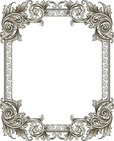Borders For Paper, Borders And Frames, Background Pictures, Paper Background, Vintage Frames, Vintage Prints, Molduras Vintage, Doodle Frames, Baroque Art