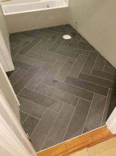 herringbone tile floor MSI Hampshire 6 in. x 24 in. Gauged Slate Floor and Wall Tile sq. / - The Home Depot Entryway Flooring, Slate Flooring, Kitchen Flooring, Laundry Room Floors, Kitchen Backsplash, Farmhouse Flooring, Flooring For Bathrooms, Best Flooring For Basement, Gray Basement