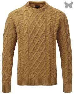 Barbour Heritage Men's Burl Crew Neck Sweater – Cinnamon MKN0786YE72 - Sale | Country Attire