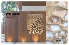 Wall hanging, wood sculpture, Maple butcher block, organic motif