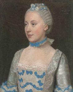 etienne liotard portrait of madame saint pol half length in lig 558 2142