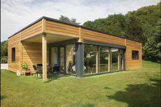 Myotte Duquet architecture bois, reportage construction maisons ossature bois - Plain pied 100m2 contemporain
