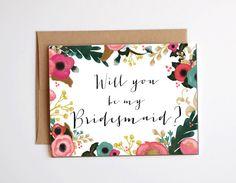 Will you be my bridesmaid? card - bridesmaid invitation, bridesmaid proposal card, be my maid of honour, bridal party card