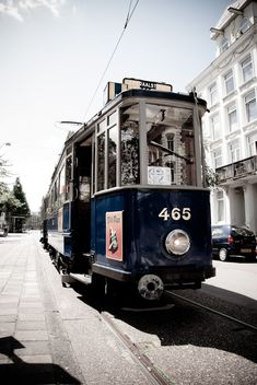 Beautiful old tram (from 1929) in Amsterdam.