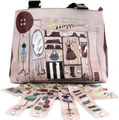 "#bags #borse #handmade #artigianali #pvc #wardrobe #pink #interchangeable #clip #tear-off #shopper Sporta ""Armadio"""
