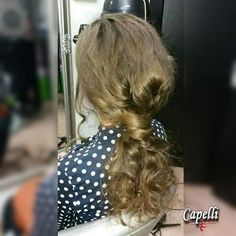 Prom hairstyle by creative director Draženka Marelja, Hair salon Capelli; prom hair formal hair prom updo upstyle for long hair messy ponytail messy hairstyle inspiration