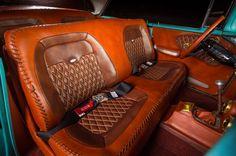017 Boosted Bela 1956 Chevrolet Bel Air Custom Patina - Provided by Hotrod Custom Car Interior, Truck Interior, Interior Ideas, Chevrolet Blazer, Custom Cars For Sale, Camo Truck, Car Upholstery, Automotive Art, Automotive Industry