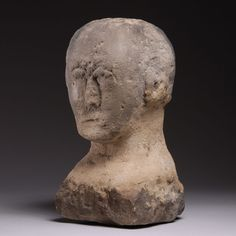 Late Iron Age Celtic Stone Carving of a Human Head - 100 BC