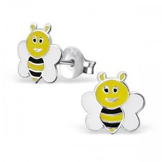 Here is the Girl Almighty collection of children's earrings. We love these cute and pretty earrings, perfect for girls and adults too! Animal Earrings, Stud Earrings, Sterling Silver Earrings Studs, Silver Jewellery, Baby Alive, Bee Theme, Kids Jewelry, Little Girl Fashion, Beautiful Gift Boxes