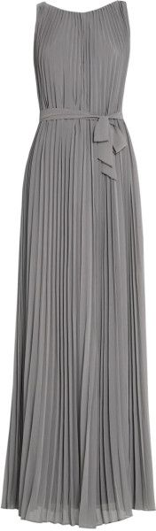 Maxi Plissé Dress - Lyst
