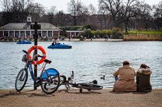Hyde Park Serpentine - With Bikes by a Lake by garryknight, via Flickr